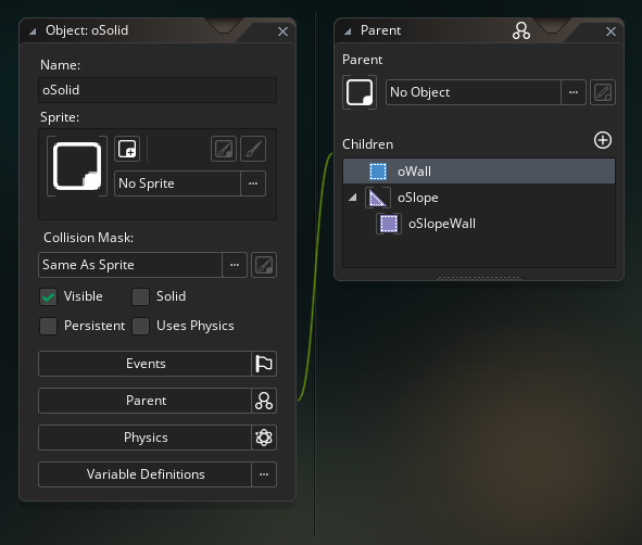 Object hierarchy in GameMaker Studio 2