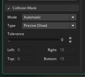 Precise collision check for slopes is essential