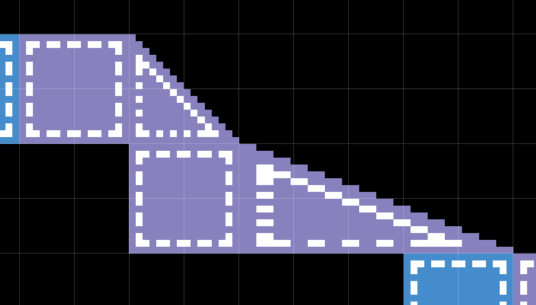 Different slopes don't need different sprites.
